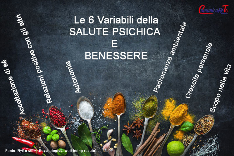 Le Sei Variabili della-salute psichica e del benessere dal discorso di Silvia Seta 7 aprile 2019 la psicologia e il benessere Psiché 2019