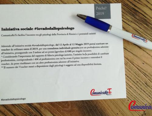 L'iniziativa sociale #iovadodallopsicologo a Rimini