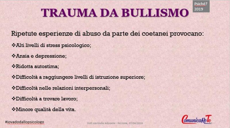 trauma da bullismo - cosa comporta?