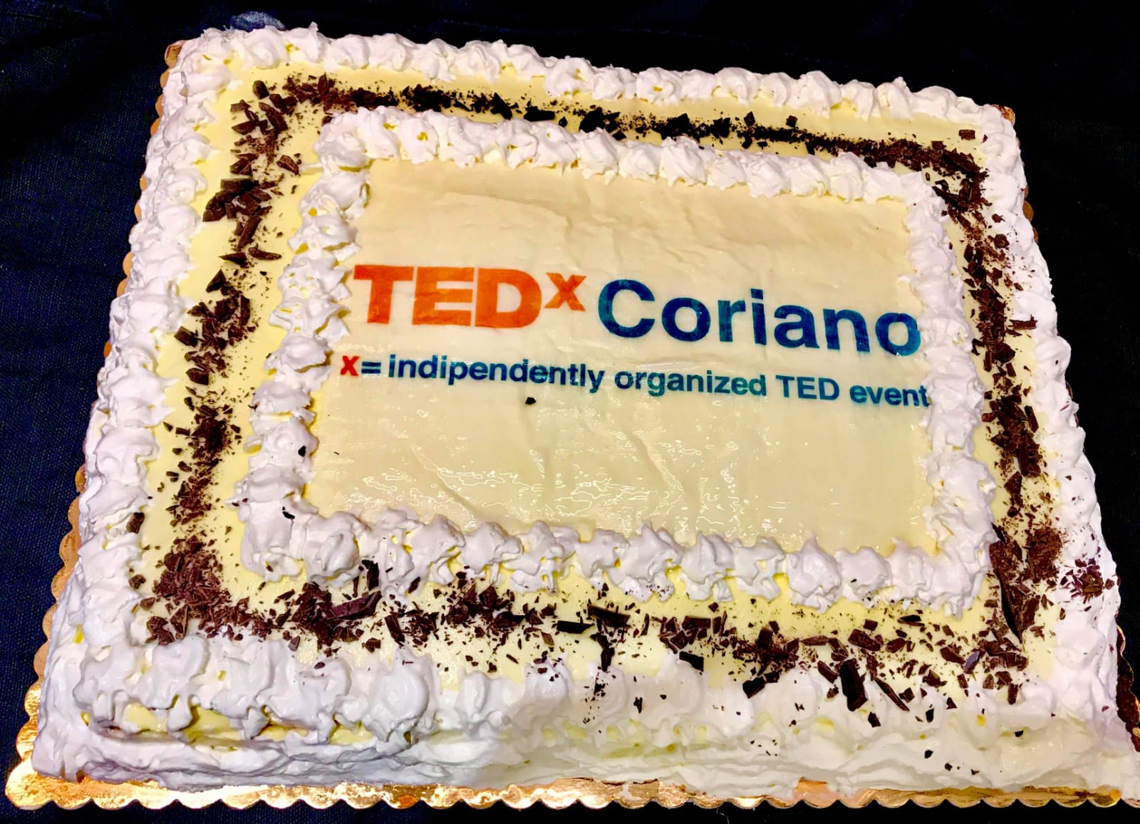 TedX-Coriano-torta - comunicarete spnsor evento torta